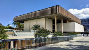 Modernist library building