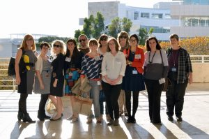 Group photo outside at the Getty Center.